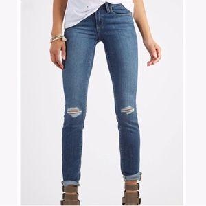 Paige Kylie Crop distressed denim jeans 27